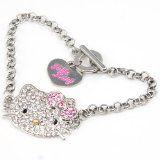 Cute Hello Kitty Crystal Bling Bracelet Sparkle Diamante Jewelry