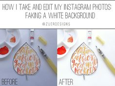 How I take and edit my Instagram photos: faking a white background