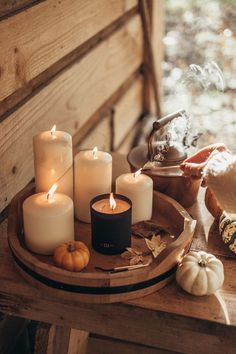 At Home With Votivo Candles Cozy Aesthetic, Autumn Aesthetic, Brown Aesthetic, Aesthetic Grunge, Aesthetic Vintage, Aesthetic Anime, Diy Candles, Candle Jars, Imagenes Dark
