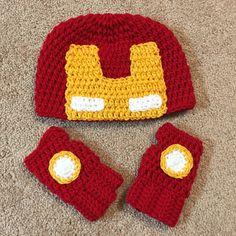 Iron man crochet set made by #kaytedids