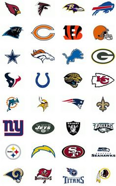 nfl football printable icons | Printable NFL Team Logo