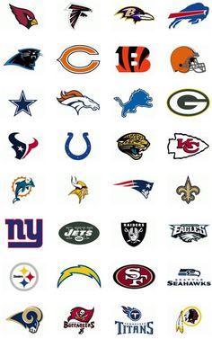 nfl football printable icons | Printable NFL Team Logo