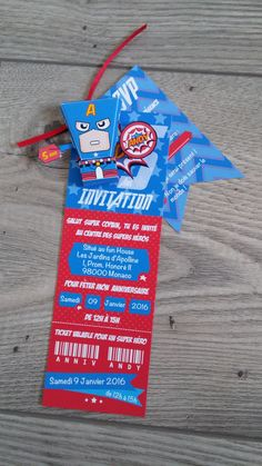 Carton d'invitation super Héros #anniversaire #invitation #carte #superhéros…