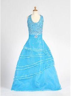 Flower Girl Dresses - $158.99 - A-Line/Princess Halter Floor-Length Organza Satin Flower Girl Dress With Beading  http://www.dressfirst.com/A-Line-Princess-Halter-Floor-Length-Organza-Satin-Flower-Girl-Dress-With-Beading-010007712-g7712