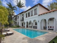 """Latin Music Star's Miami Beach Mansion Wants $18M  Location: Miami Beach, Fla. Price: $18,000,000  The Skinny: Spanish-born Latin music star Alejandro Sanz has hung a """"For Sale"""" sign and an $18M asking price on his waterfront Miami Beach manse. The 1933 mansion has been beautifully restored, and features interiors by the late, legendary designer Wallace Tutt, who counted among his many clients such celebs as Gianni Versace (whose South Beach home he famously designed),"""
