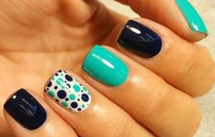 70 Simple Nail Design Ideas That Are Actually Easy Nail art designs trend of ha. - 70 Simple Nail Design Ideas That Are Actually Easy Nail art designs trend of has caught the craze - Simple Nail Art Designs, Cute Nail Designs, Easy Nail Art, Acrylic Nail Designs, Acrylic Nails, Teen Nail Art, Popular Nail Designs, Dot Nail Art, Simple Art