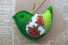 Green Felt Bird - by Emecreations on madeit