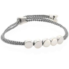 Monica Vinader Linear Bead Sterling Silver Friendship Bracelet/Silver... (€140) ❤ liked on Polyvore featuring jewelry, bracelets, sterling silver jewelry, sterling silver rope bracelet, friendship bracelet, silver jewellery and sterling silver jewellery