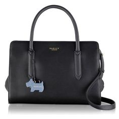 Gorgeous bag. Radley Medium black leather 'Liverpool Street' grab bag | Debenhams