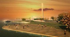Como ficará a paisagem da Orla da Guaíba após a revitalização.