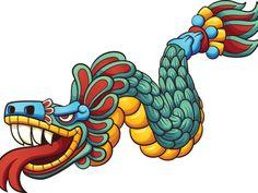 Illustration about Cartoon Quetzalcoatl. Vector clip art illustration with simple gradients. All in a single layer. Illustration of illustration, simple, prehispanic - 77401898 Quetzalcoatl Vector, Quetzalcoatl Tattoo, Art And Illustration, Badass Drawings, Aztec Culture, Aztec Art, Clip Art, Chicano Art, Mexican Art
