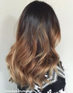 #11: Beautiful Light Brown Ombre If you're looking for black ombre hair that is glamorous and touchable, then you need to master the art of imperfect waves. To