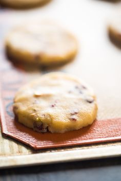 Vegan Cranberry Pistachio Shortbread Cookies with Balsamic Reduction - Gluten free shortbread cookies with crunchy pistachios, chewy cranberries and tangy balsamic reduction! They're a healthy, vegan cookie for Christmas!   Foodfaithfitness.com   @FoodFaithFit