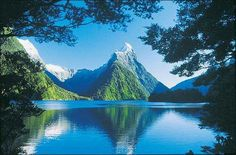 Blue Lake, Milford Sound, New Zealand