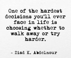 Sometimes someone makes the choice for you...