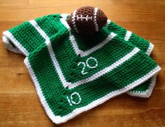 Boy's Crochet Baby or Toddler Football Security Blanket, Lovey  Football blanket Baby gift on Etsy, $22.00 lovie Crochet Security Blanket, Crochet Lovey, Crochet Amigurumi, Crochet Bebe, Baby Blanket Crochet, Crochet Toys, Baby Security Blanket, Lovey Blanket, Crochet Baby Clothes