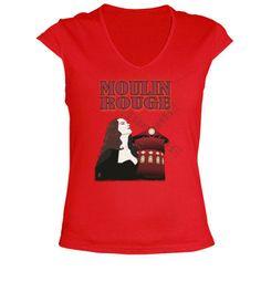 Tee shirt V-neck t-shirt moulin rouge