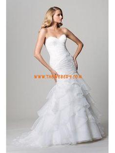 applique sweetheart organza moderno abiti da sposa sirena 2013