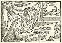 "Publius Ovidius Naso, from ""P.Ovidij Nasonis Metamorphoseon"", Venice, 1565.  #ovid #publiusovidiusnaso #poet #metamorphoses #woodcut #letterpress #book #writing"