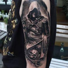 #assassinscreed #assassin #tattooedgirls #beautiful #girlswithtattoos #detailed #design #tattoo #tattoos #instagood #instadaily #tattooartist #inked #ink #guyswithtattoos #tattooedguys