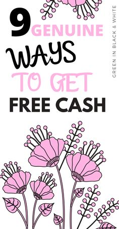 Everyone loves the idea of free money right? This post looks at 9 ways to get cash for nothing. Make Cash Fast, Way To Make Money, How To Get, Earn Money From Home, Earn Money Online, Online Jobs, Start A Business From Home, Legit Work From Home, Student Jobs