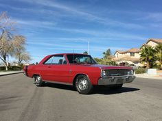 1967 Dodge Dart GT RARE MOPAR V8 ORIGINAL COUPE 2 DOOR RED DART