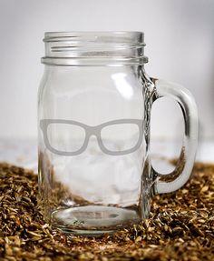 Customizable Etched Glassware Canning Jar Mug