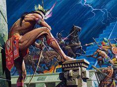 "La Pintura y la Guerra ""Cortes battles the Aztecs""  Severino Baraldi"