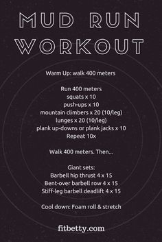 Mud Run Workout - @F