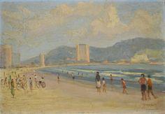 JOSÉ BENEVENUTO MADUREIRA - (1903 - 1976)    Título: Marinha  Técnica: óleo sobre eucatex  Medidas: 22 x 32 cm  Assinatura: canto inferior direito