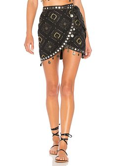 House of Harlow 1960 x REOVLVE Della Skirt in Slate | REVOLVE