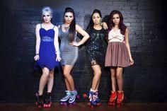 Little Mix! I love Perrie's dress!