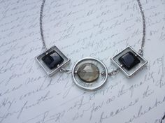 Modern geometric necklace by BijouxdeBrigitte on Etsy