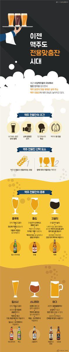 맥주, 전용잔에 마셔야 맛있다 [인포그래픽] #beer / #Infographic ⓒ 비주얼다이브 무단 복사·전재·재배포 금지