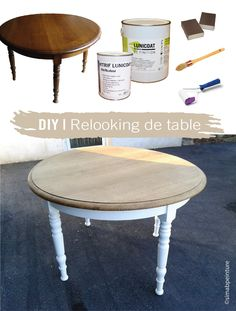 Table Decorations 63790 DIY makeover a table. Refurbished Furniture, Furniture Makeover, Diy Furniture, Kitchen Table Makeover, Diy Bench, Furniture Restoration, Restoration Hardware, Dining Room Design, Home Staging