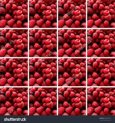 #Background made of identical #square shapes filled with #raspberries