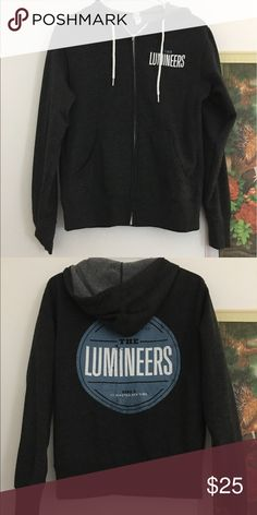The Lumineers Zip Up Hoodie Unisex Small - Gray, Zip Up . nwot comes from a pet free smoke free home Cotton Blend Jackets & Coats