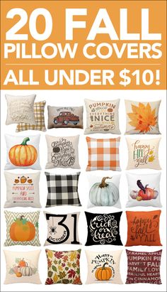 20 Fall Pillow Covers for Under $10 - How to Nest for Less™