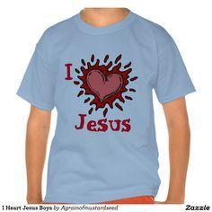 I Heart Jesus Agrainofmustardseed.com Boys T-shirts