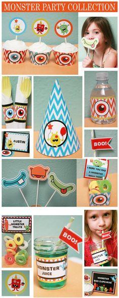 Little Monster Boy Birthday Party Pack by PrintablePartyPacks