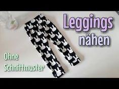 Leggings Nähanleitung - OHNE Schnittmuster - Anfänger - Nähtinchen - YouTube