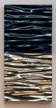 Untitled (Chrome Swell) : Alex Weinstein Fiberglass, automotive paint and silver Wall Sculptures, Sculpture Art, Water Art, Hanging Art, Installation Art, Home Art, Design Art, Glass Art, Art Photography