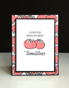 Kara Vrabel for WPlus9 featuring Punny Produce: Tomatoes and PURE COLOR Dye Ink