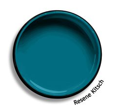 Resene Kitsch is a colour of retro popular appeal, this crossover teal blue has a sporty young appeal. From the Resene Multifinish colour collection. Try a Resene testpot or view a physical samp Teal Wall Colors, Teal Blue Color, Teal Walls, Bedroom Colors, Paint Colours, Bungalow Exterior, House Paint Exterior, Outdoor Paint Colors, Colored Ceiling