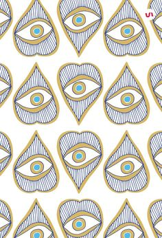 40 Evil Eye Illustrations PLUS 20 Evil Eye Seamless Patterns. The Evil Eye is a curse believed to be cast by a malevolent glare, usually given to a person when they are unaware. Many cultures believe that receiving the evil eye will cause misfortune or i Eye Art, Eye Illustration, Art Inspo, Drawings, Eyes Wallpaper, Pattern Wallpaper, Art, Art Wallpaper, Seamless Patterns