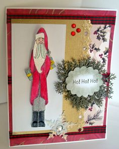 CUUUTE!!! Holly Berry House Originals Art Stamp---MMSC20, Long Tall Santa