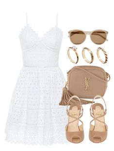 """Style #10562"" by vany-alvarado ❤ liked on Polyvore featuring Bebe, Yves Saint Laurent, Christian Louboutin and ASOS"