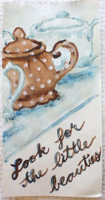 Look for the little beauties, or Teapots, by Rowena Murillo