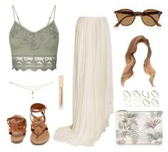 """""""Summer Outfit #18"""" by one-direction-outfits-of-the-day ❤ liked on Polyvore featuring Topshop, Vionnet, Breckelle's, Ray-Ban, Burberry, Warehouse and ASOS"""