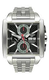 Tissot T0055141106100 Watch,Tachymeter scale, Main dial polished silver tone hands using luminous accents